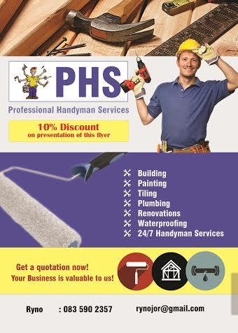 Professional Handyman Services - PHS - Cape Town  Projects