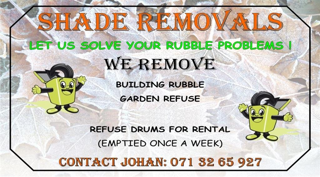 Shade Removals - Let Us Solve Your Rubble Troubles - Polokwane ...