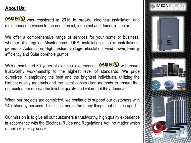 Menq Electrical - Cape Town. Projects, photos, reviews and more | Snupit