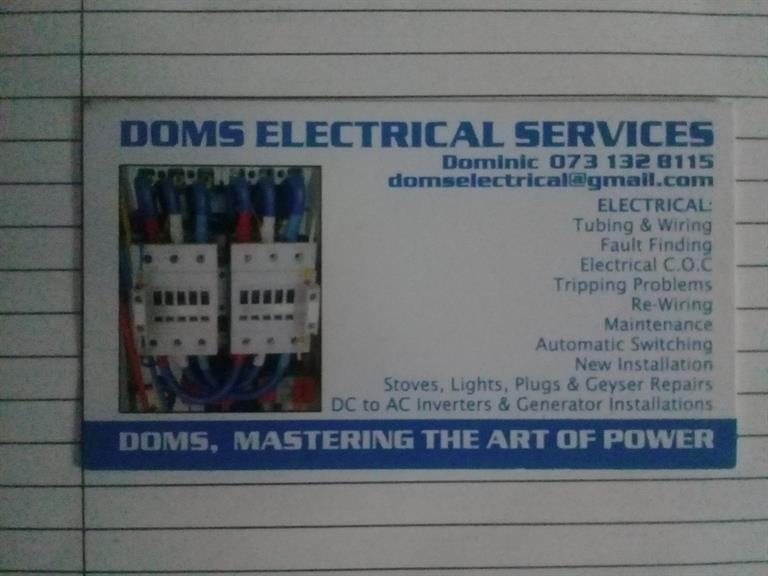 Doms Electrical & Projects - Sandton  Projects, photos, reviews and